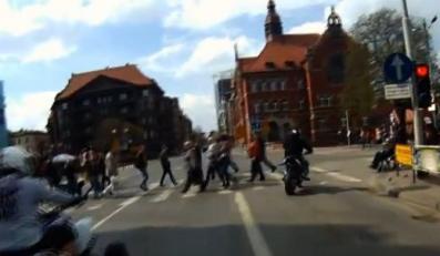 Popisy motocyklistów w Katowicach