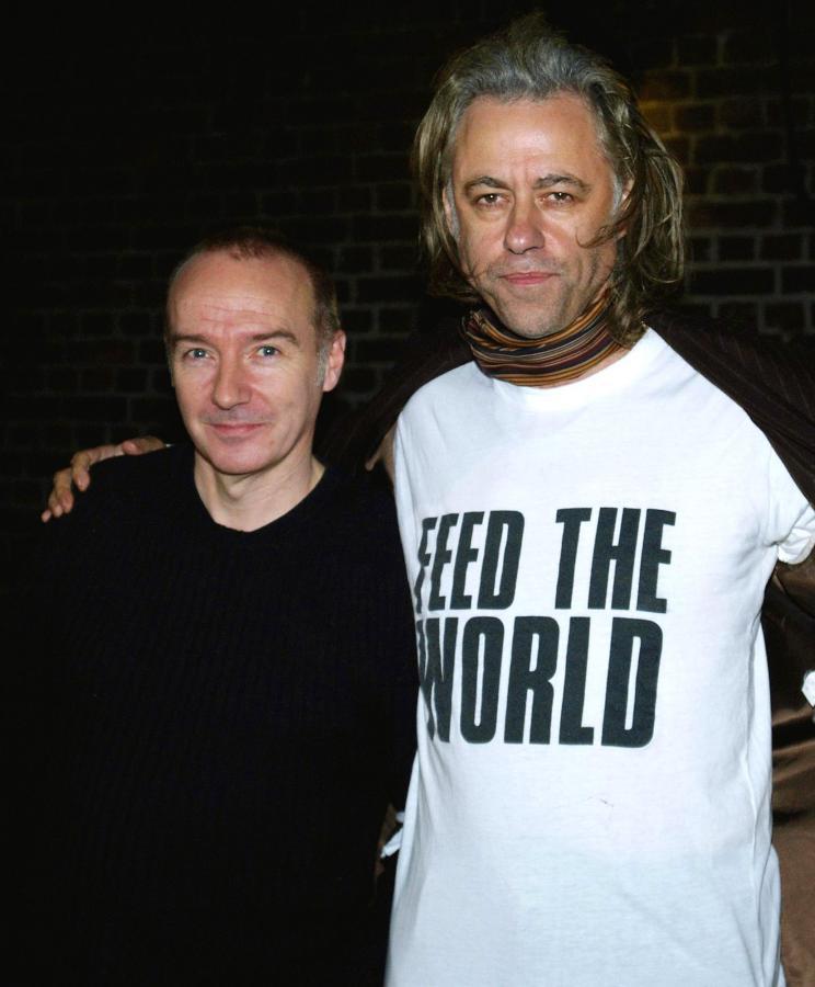 """5. """"Do They Know It's Christmas?"""" –Band Aid (na zdjęciu Bob Geldof i Midge Ure)"""