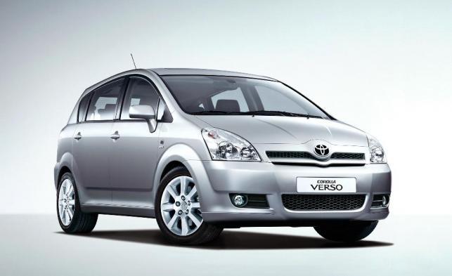 Toyota corolla verso - 2. . miejsce w kategorii aut 6-7 letnich