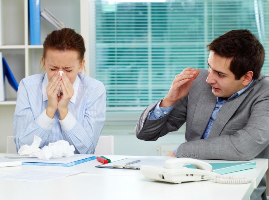 grypa w pracy