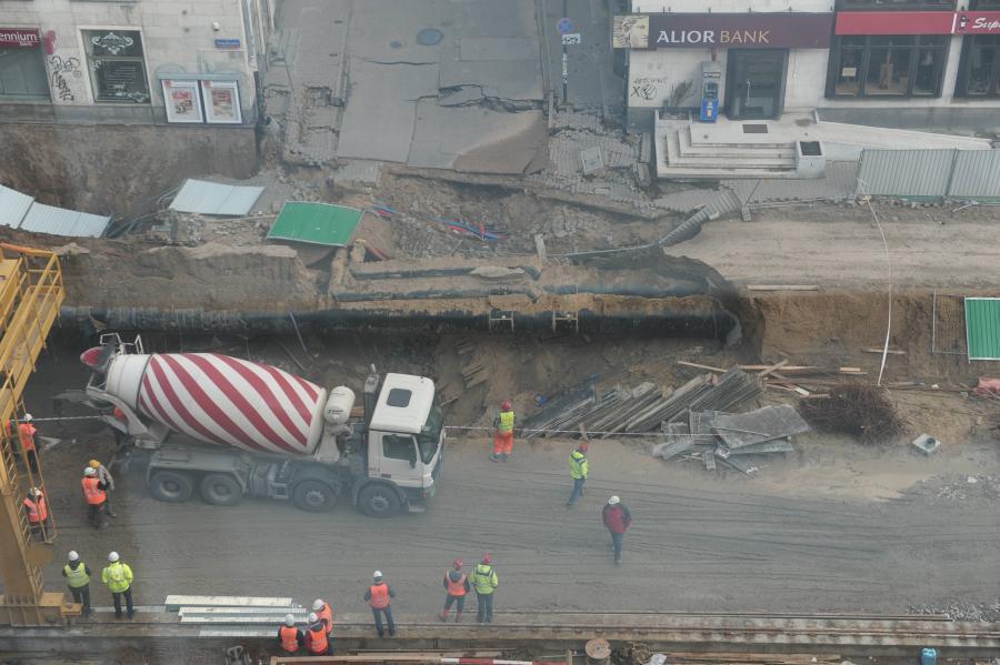 Osuwisko na budowie II linii metra