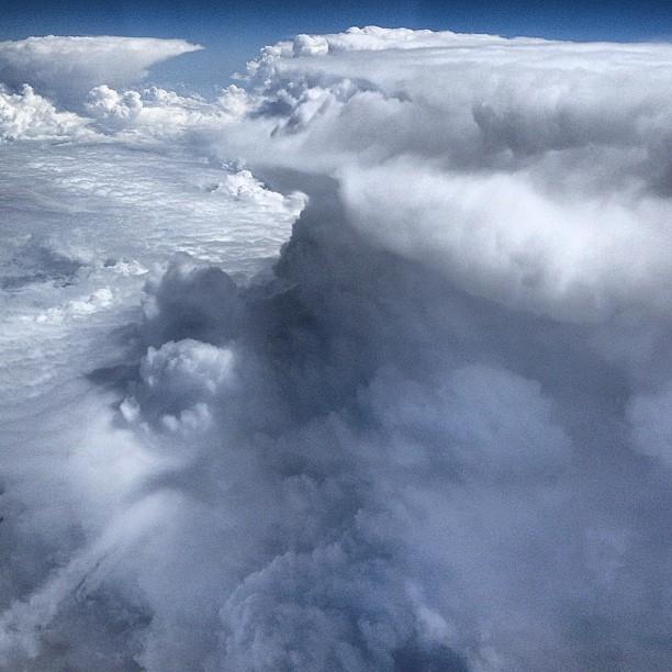 Chmury, zdjęcie z profilu Dmitrija Miedwiediewa