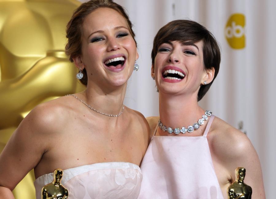 Jennifer Lawrence i Anne Hathaway –najlepsze aktorki Oscarów 2013