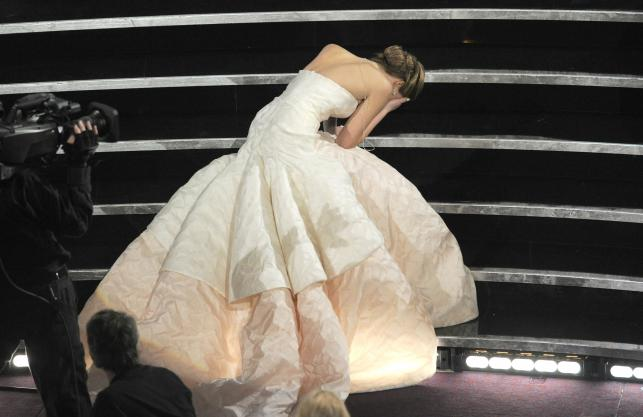 Upadek Jennifer Lawrence