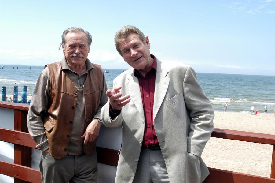 Emil Karewicz i Stanisław Mikulski w Międzyzdrojach – lipiec 2004