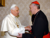 Kardynał Jorge Mario Bergoglio i papież Benedykt XVI