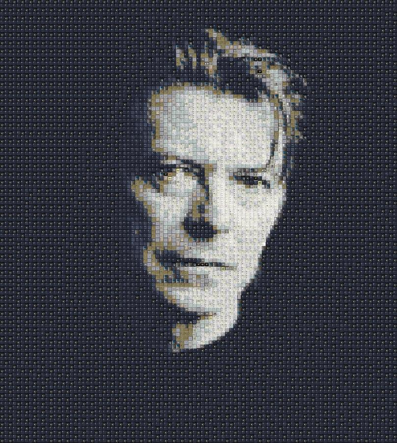 David Bowie – portret autorstwa Guy\'a Whitby\'ego, aka WorkByKnight (WBK)