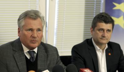 Aleksander Kwaśniewski i Janusz Palikot