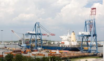 Port w Mobile w stanie Alabama