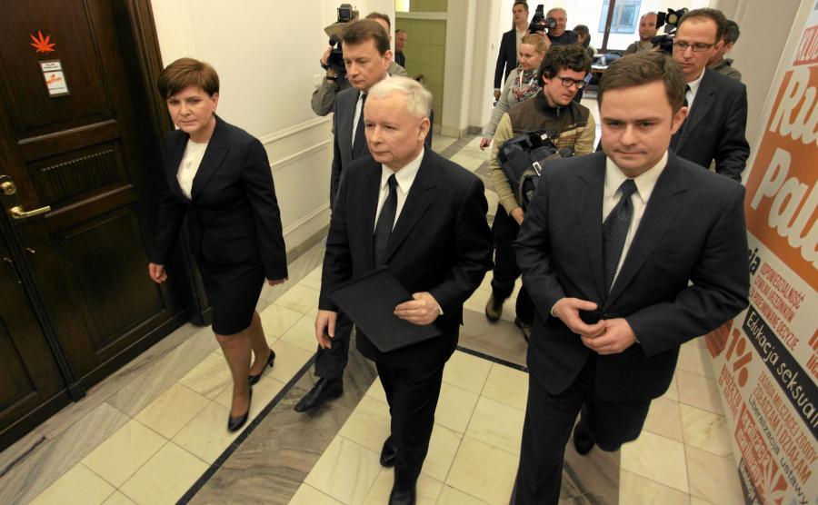Beata Szydło, Mariusz Błaszczak, Jarosław Kaczyński i Adam Hofman