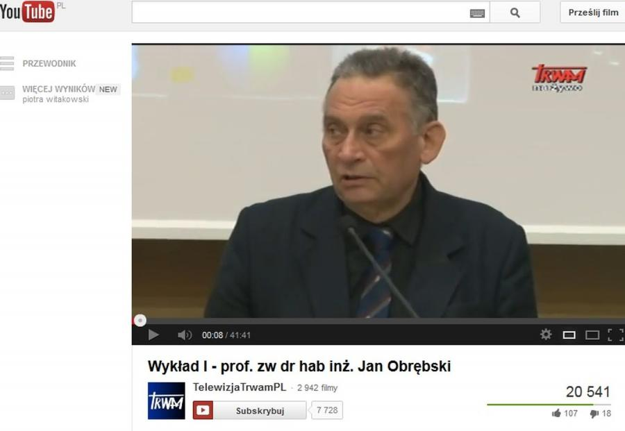 Prof. Jan Obrębski