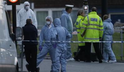 Policja i służby na miejscu brutalnego mordu