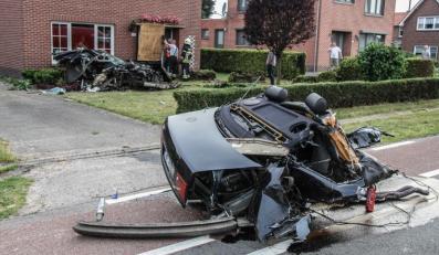 Audi S8 roztrzaskane przez Polaka w Belgii/źródło nieuwsblad.be