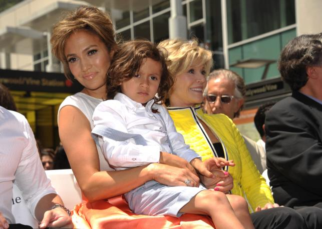 Jennifer Lopez i jej synek Max