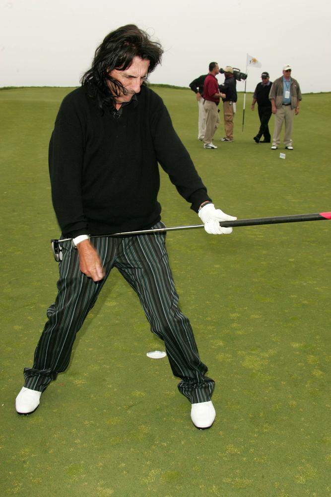Alice Cooper na dorocznym turnieju golfowym Michaela Douglasa w 2007 roku