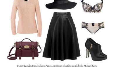 Jak nosić skórzaną spódnicę jesienią 2013?
