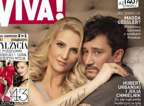 Michał Wiśniewski z żoną Dominiką na okładce \