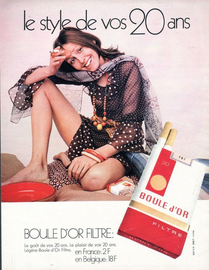 """Papierosy """"Boule d'Or"""", rok 1990"""