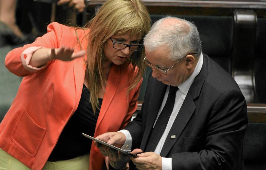 Małgorzata Gosiewska i Jarosław Kaczyński