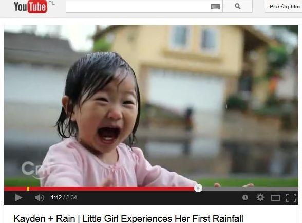 mała dziewczynka na deszczu