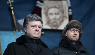 Petro Poroszenko (po lewej) i Arsenij Jaceniuk, premier Ukrainy