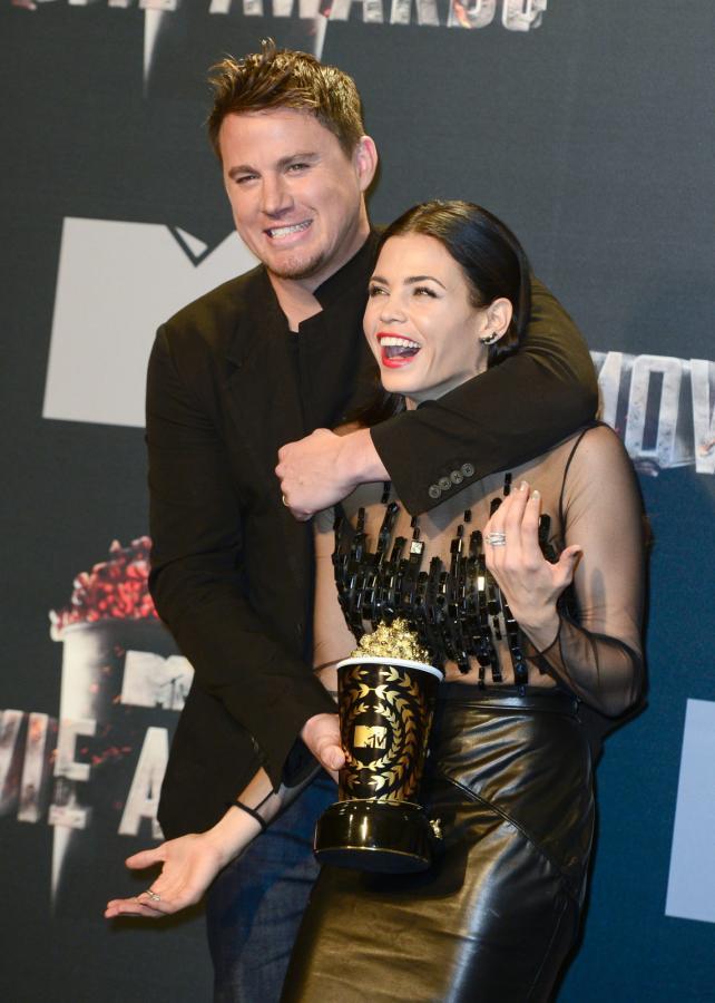 Channing Tatum z żoną Jenną Dewan na gali MTV Movie Awards 2014