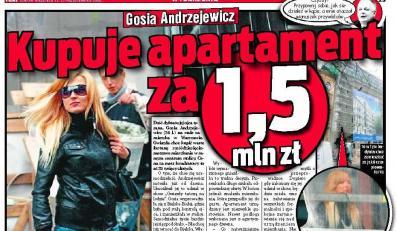 Gosia Andrzejewicz zamieszka w apartamencie za półtora miliona złotych