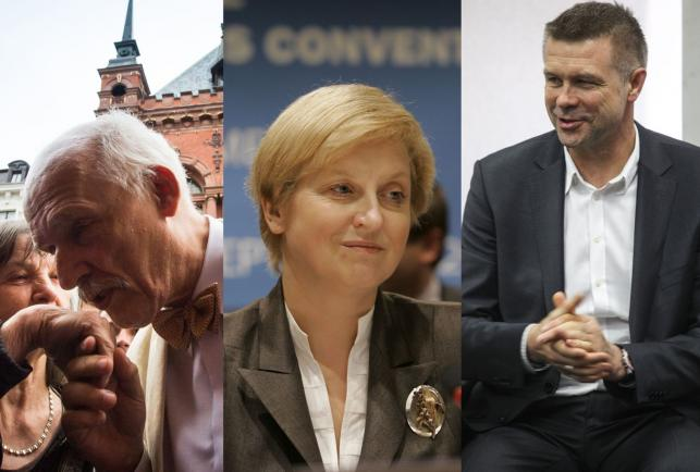Janusz Korwin-Mikke (fot. PAP), Anna Fotyga (fot. AP) i Bogdan Wenta (fot. PAP)