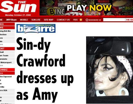 Cindy Crawford przebrała się za Amy Winehouse