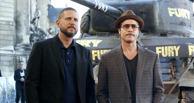 Reżyser David Ayer, wąsaty Brad Pitt i czołg