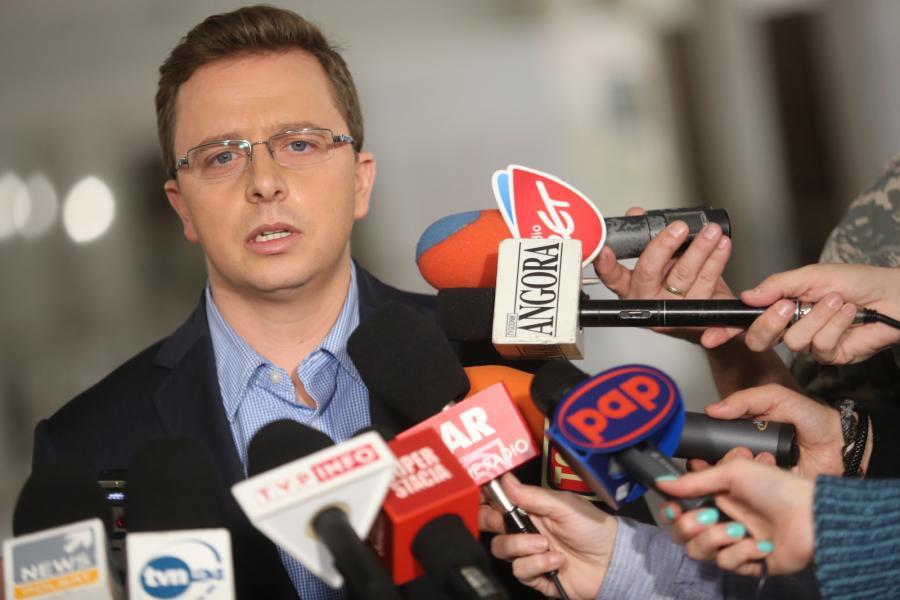 Rzecznik prasowu SLD Dariusz Joński