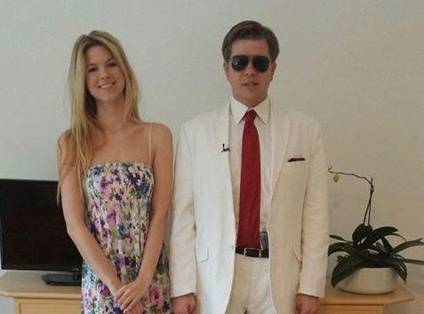 Filip Chajzer z siostrą Weroniką / zdjęcie z oficjalnego profilu