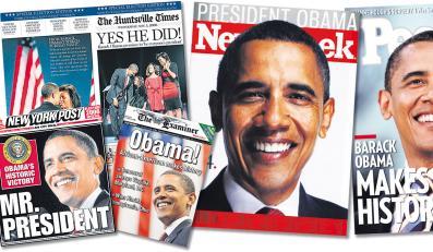 Obama pojawia się na okładkach wszelkich amerykańskich gazet