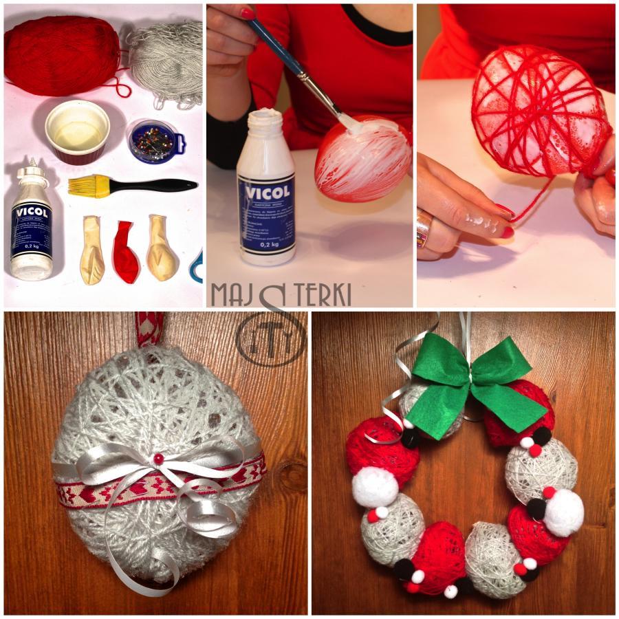 MAJSTERKI: DIY - świąteczna ozdoba na drzwi