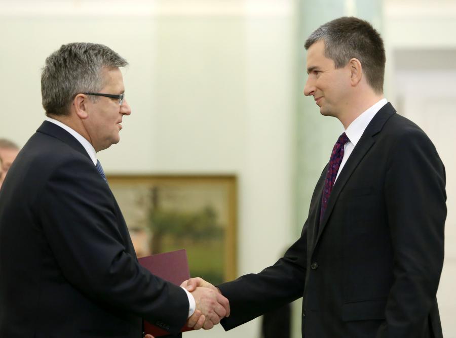 Bronisław Komorowski i Mateusz Szczurek