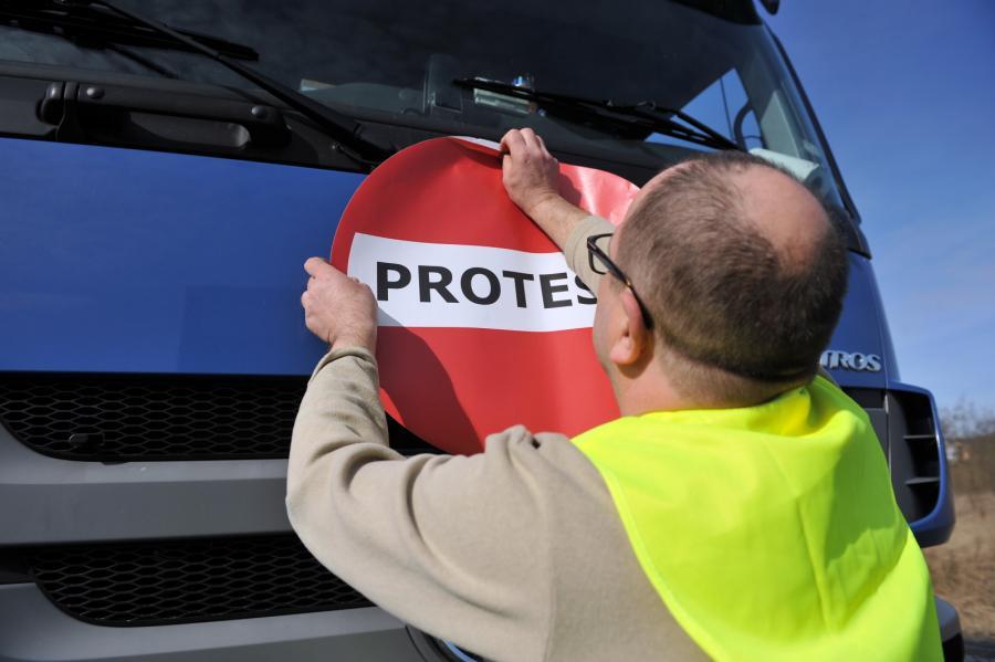 Protest transportowców