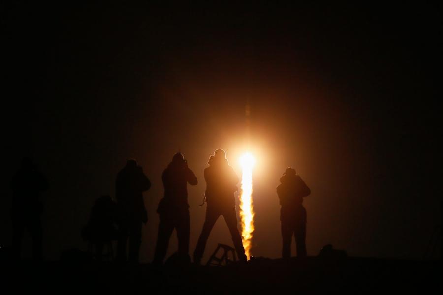 Kapsułę Sojuz wystrzelono z kosmodromu Bajkonur w Kazachstanie