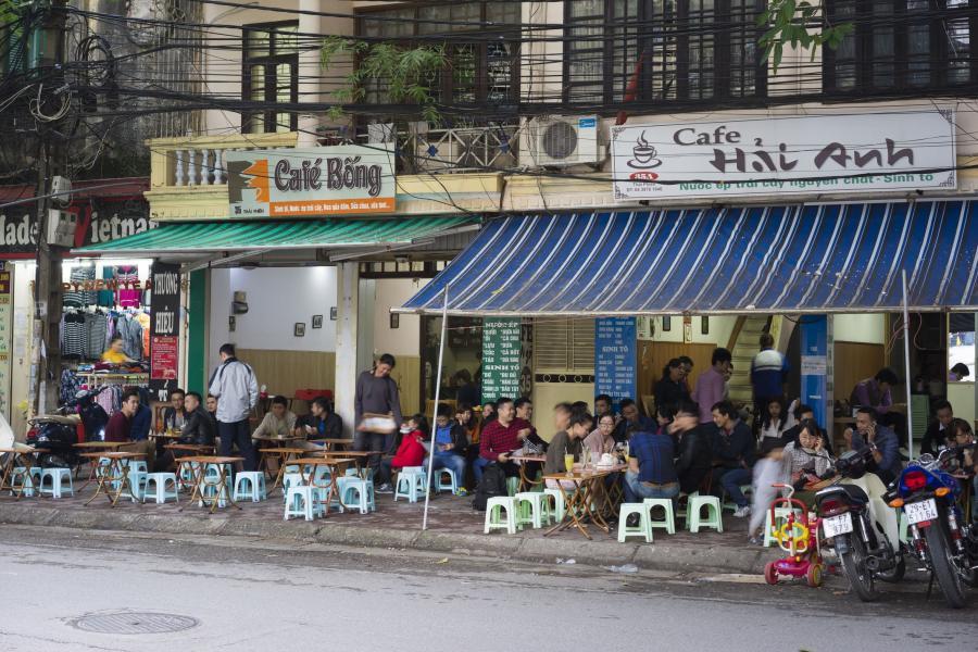 Kawiarnia w Hanoi, Wietnam