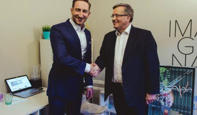 Łukasz Jakóbiak i Bronisław Komorowski
