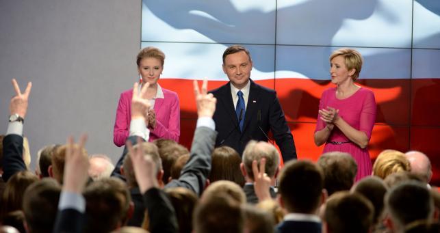 Andrzej Duda w czasie wieczoru wyborczego: