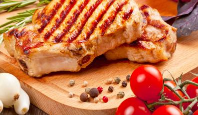 Grillowane mięso z warzywami