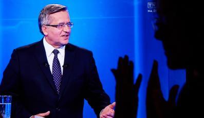Bronisław Komorowski w czasie debaty prezydenckiej