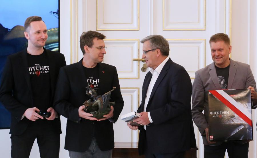Spotkanie prezydenta z twórcami gry \