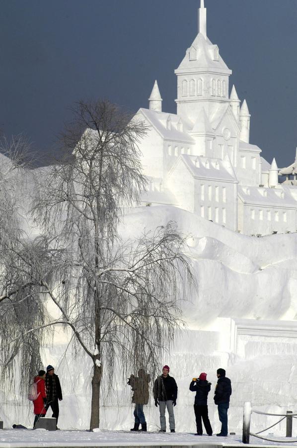 W tym roku motywem przewodnim na Festiwalu Śniegu i Lodu w chińskiej Mandżurii była historia Francji