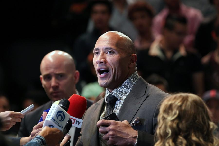 Dwayne Johnson na premierze \