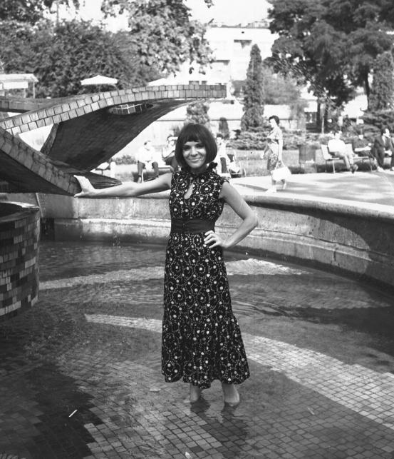 Sława Przybylska w Opolu w latach 70-tych