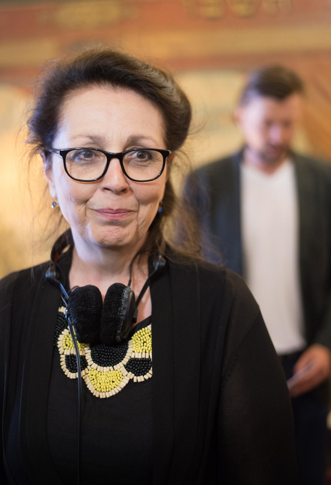 """Reżyserka Maria Noëlle na planie filmu """"Maria Curie"""""""