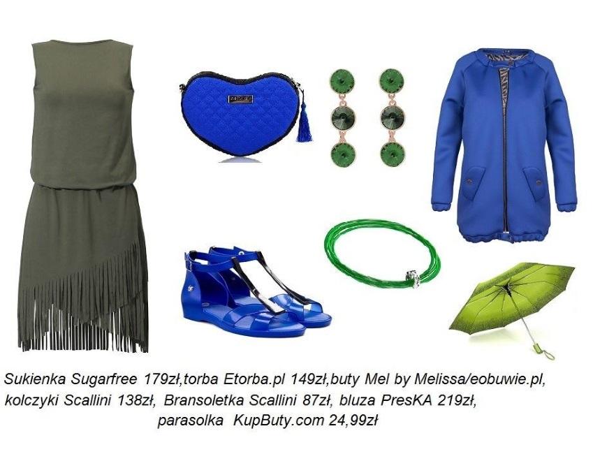Kobalt i zieleń - modne STYLIZCJE na lato