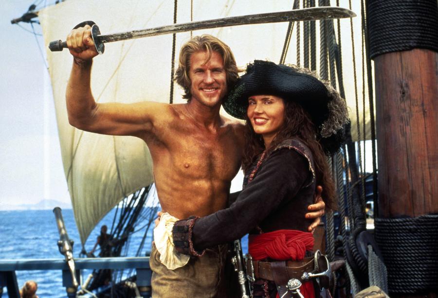 """Geena Davis w filmie """"Wyspa piratów"""""""