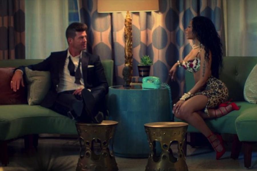 Robin Thicke i Nicki Minaj w klipie do \